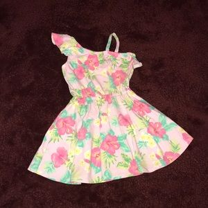 Other - Floral dress/One shoulder